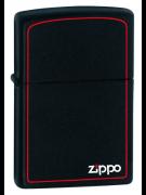 Зажигалка Zippo Черная Матовая с логотипом
