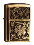 Зажигалка Zippo Gold Floral Flourish Фото
