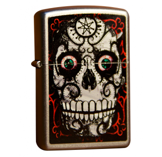 Зажигалка Zippo Day of the Dead Skull