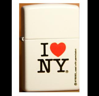 Зажигалка Zippo I Love NY White