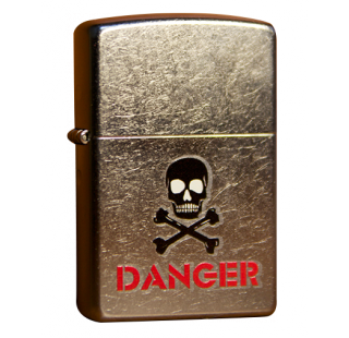 Зажигалка Zippo Danger with Skull