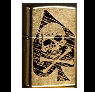 Зажигалка Zippo Skull Ace of Spades