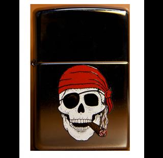 Зажигалка Zippo Skull With Cigar