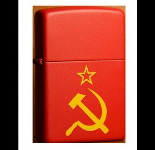 Зажигалка Zippo Серп и Молот СССР